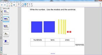 Smart Board Math: Base Ten- count hundreds, tens and ones