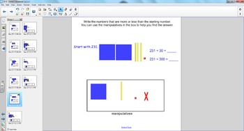 Smart Board Math: Changing Numbers by Hundreds and Tens