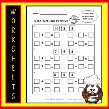 Fall Activities for SMARTboard Math Fact Families