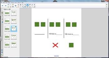 Smart Board Math: Hundreds Flats