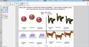 Smart Board Math: Ordering Three Digit Numbers