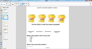 Smart Board Math: Problem Solving- Look for a Pattern
