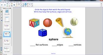 Smart Board Math: Solid Figure Faces,Edges, Vertices