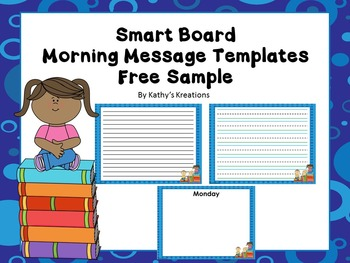 Smart Board Morning Message Template FREE