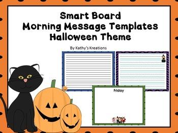Smart Board Morning Message Halloween
