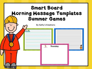 Smart Board Morning Message Summer Games