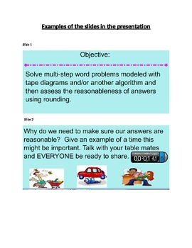Smart Board:  Multistep Word Problems