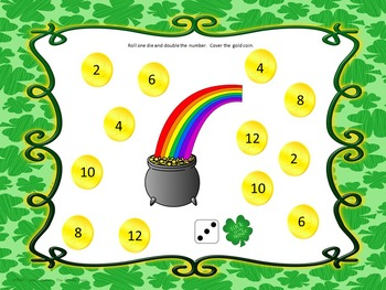 Smart Board Roll And Cover St. Patrick's Day Theme