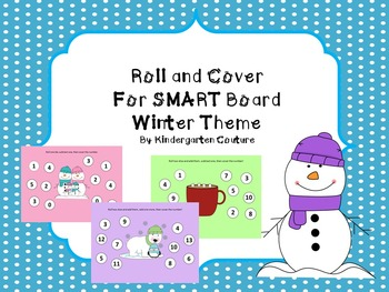 Smart Board Roll and Cover -Winter Theme