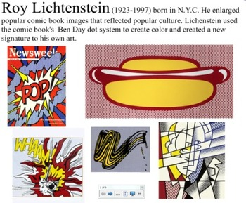 Smart Board Roy Lichtenstein Words