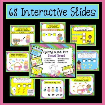 Smart Board Math Spring Fun: Addition, Subtraction & Word Problems