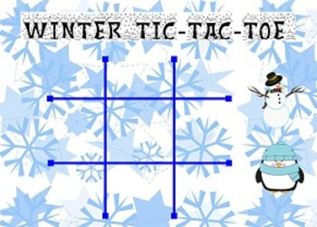 Smart Board Tic-Tac-Toe Game (Winter Themed)