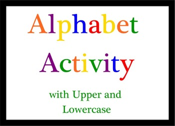 Smart Board Alphabet Activity Upper and Lowercase Letters