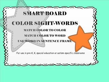 Smart Board color sight words