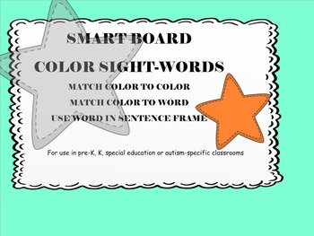 Smart Board color sight words