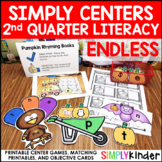 Kindergarten Centers - Second Quarter Simply Centers Bundle - Literacy Centers