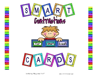 Smart Chute Cards - Contractions - Common Core Standards