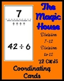 Smart Chute Style Cards - Dividing with 7 - 12 (thru multiples of 12)