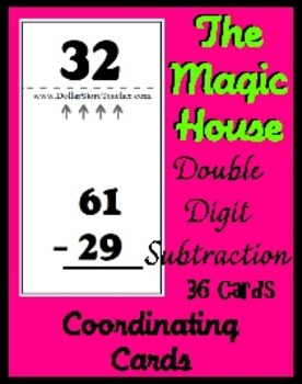 Smart Chute Style Cards - Magic House - Double Digit Subtraction - 36 Cards