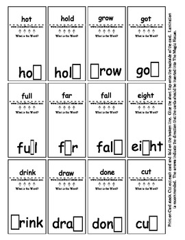 Smart Chute Style Cards - Common Core - Sight Words - Grade 3 - 48 Cards