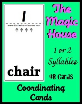 Smart Chute Style Cards -  Teaching Syllable Recognition - 1 & 2 syllables