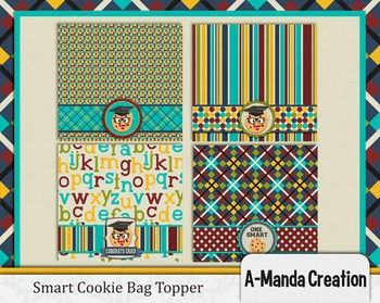picture about Printable Bag Toppers named Sensible Cookie Commencement printable bag toppers