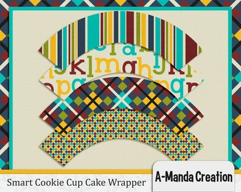 Smart Cookie Graduation printable cupcake wrappers