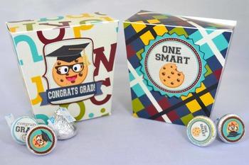 Smart Cookie Graduation printable favor boxes
