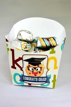 Smart Cookie Graduation printable fry boxes
