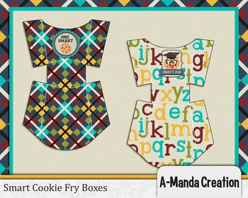 Smart Cookie Graduation printable fry boxes