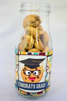 Smart Cookie Graduation printable glass bottle wrappers