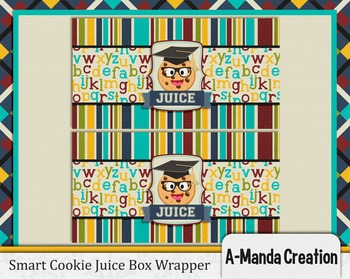 Smart Cookie Graduation printable juice box wrapper