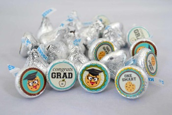 Smart Cookie Graduation printable kiss stickers