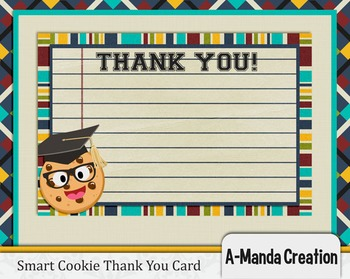 Smart Cookie Graduation printable thank you card