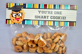 Smart Cookie Graduation printable zip top bag toppers