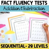 Fact Fluency Tests for Addition & Subtraction Facts to 20