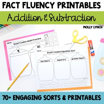 Smart Cookie Math - Addition & Subtraction Printables