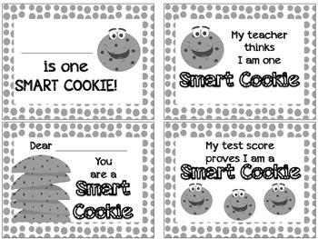 Smart Cookie Note Cards FREEBIE