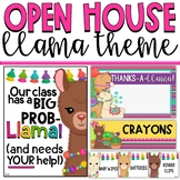 Llama and Cactus Open House and Meet the Teacher Resource Bundle