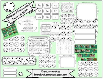 Smart Cookie Sight Word Game OVER 220 Words!!! BW Version