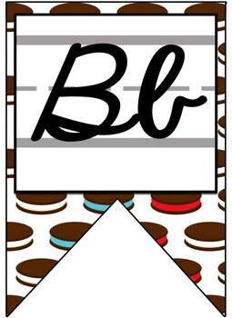 Smart Cookie Themed Alphabet Banner with Zaner Bloser Cursive
