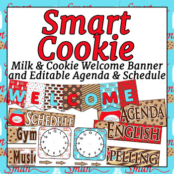 Smart Cookie Themed Welcome banner and Editable Agenda and Schedule