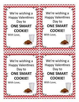"""Smart Cookie"" Valentine Gift Tag FREEBIE!"