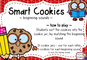 Smart Cookies - Beginning Sound Sorting Game