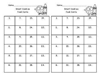Smart Cookies - Graphing and Data