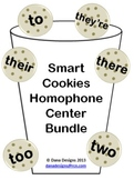 Smart Cookies - Homophone Centers (To, Two, Too, They're, Their, There)