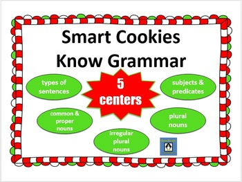 Smart Cookies Know Grammar - 5 Christmas Review Centers