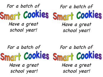Smart Cookies Labels