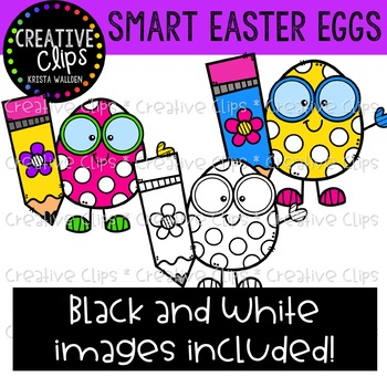 Smart Easter Eggs: Spring Clipart {Creative Clips Clipart}