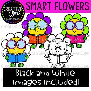 Smart Flowers Clipart {Creative Clips Clipart}